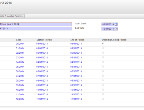 How to create Periods in Odoo(OpenERP) Financial Accounting?