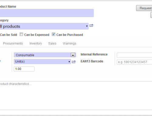 How to create products in Odoo?