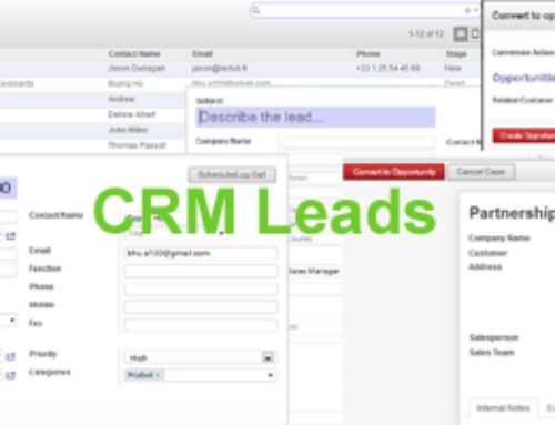 How to create a leads record in Odoo CRM?