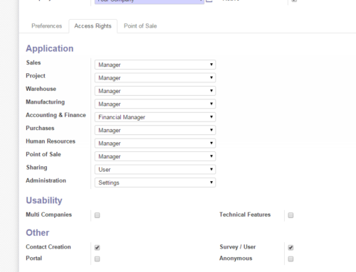 How to enable technical features for a user in Odoo?